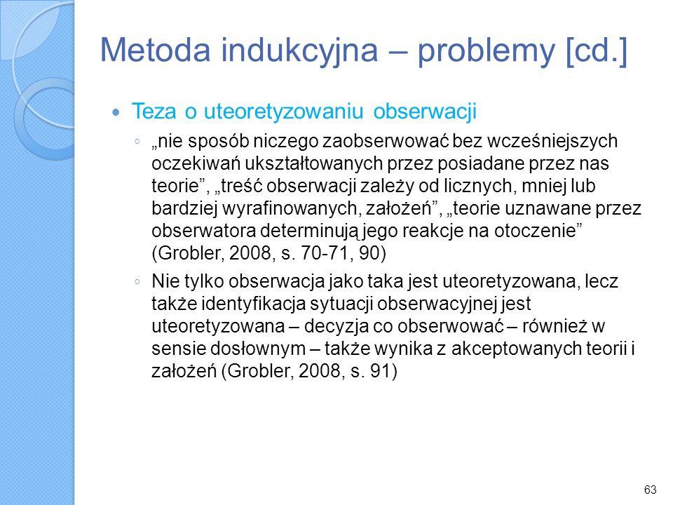 Metoda indukcyjna – problemy [cd.]